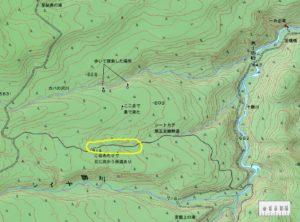 カバの沢周辺地図2008年作成