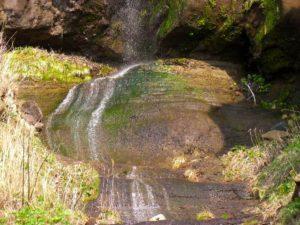 ホヤ石の滝中段