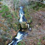 橋の上から見る九段の滝