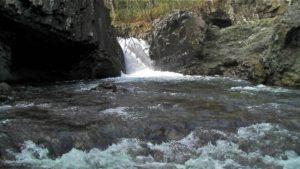古平川の中から撮影