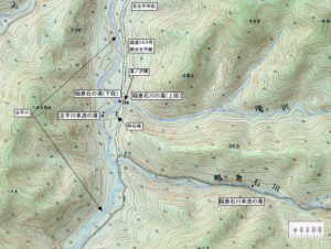 古平川・稲倉石川周辺地図
