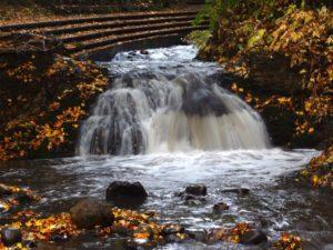 精進川の滝全景