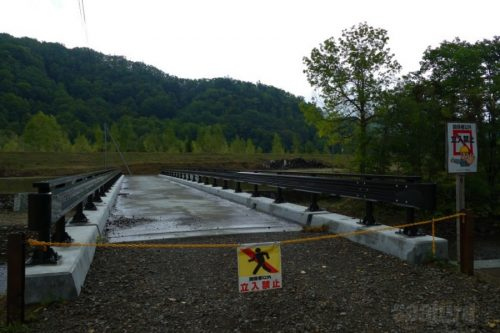 建設中の橋