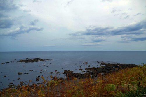 日の出岬から見たオホーツク海