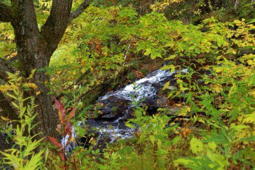 イナシベツの滝落口