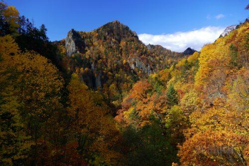 千丈岩と紅葉