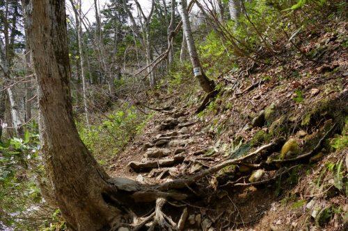 急坂を登る