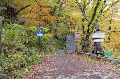 羽衣の滝遊歩道入り口