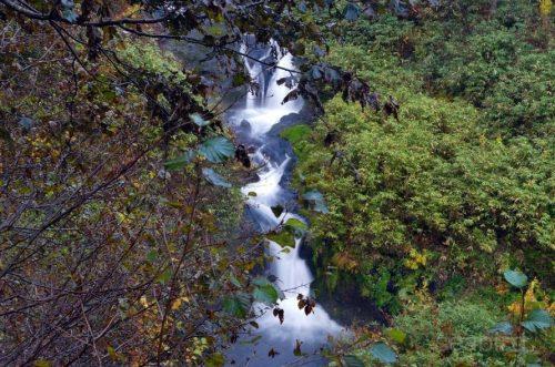 駒止の滝中段と下段