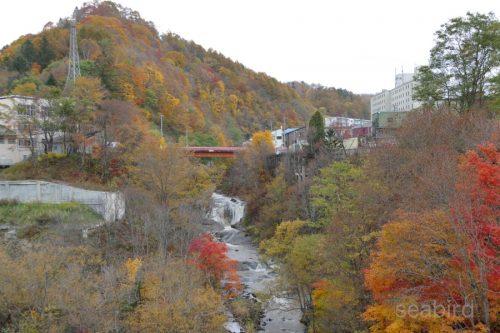 栄橋から見る紅葉