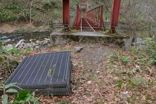 檜沢橋の羽目板
