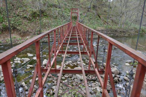 床のない檜沢橋
