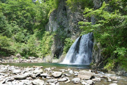 白老滝に近づく