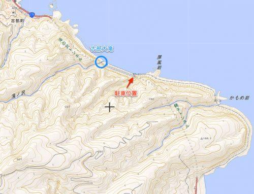 古部大滝周辺マップ
