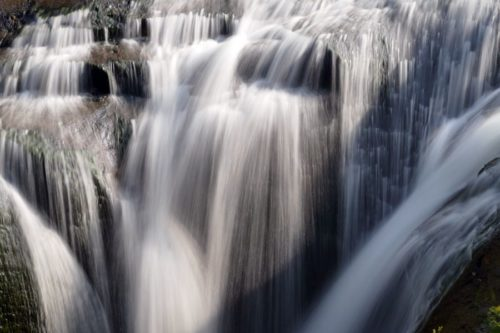 白扇の滝 落口