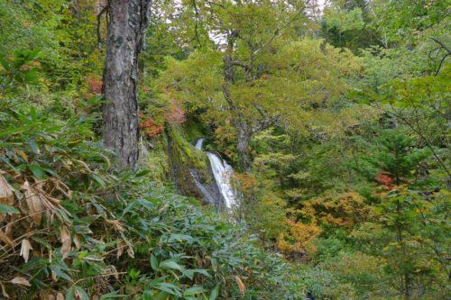 男鹿の滝が見えた