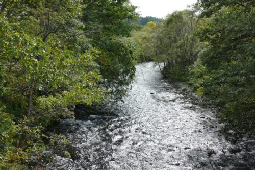 長栄橋から見た斜里川