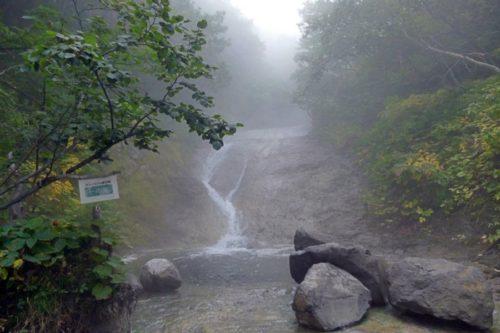 カムイワッカ湯の滝 一の滝