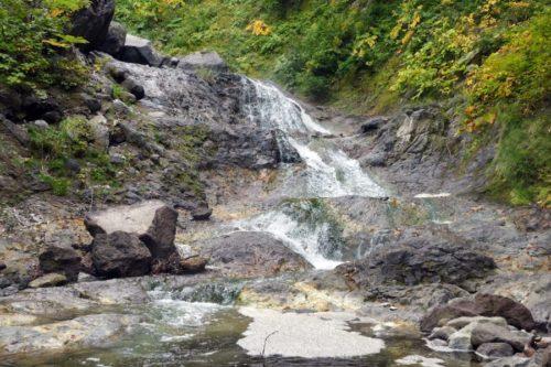 カムイワッカ湯の滝 二の滝