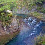 滝の橋から見た忠別川